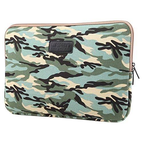 Baymate Unisexo Design Bolso Para Portátil Bolso Para Notebook Funda 11.6-15 Pulgadas 13 Pulgada Blue Sea camuflaje