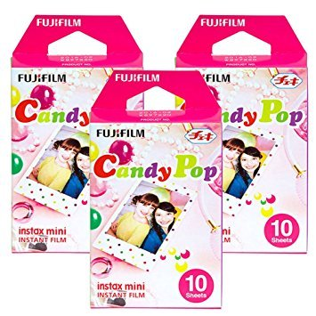 Fujifilm Instax Candy Pop Instant Film 3 Pack for Mini 8 Cameras 30 Sheets by Fujifilm