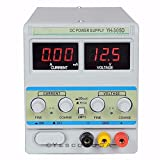 30V 5A Precision DigitaL Adjustable Variable DC Power Supply w/Clip Cable Repair Tools