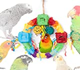Foraging Swing Bird Toy For Exercise, Chewing, Preening, Shredding & Mental Stimulation