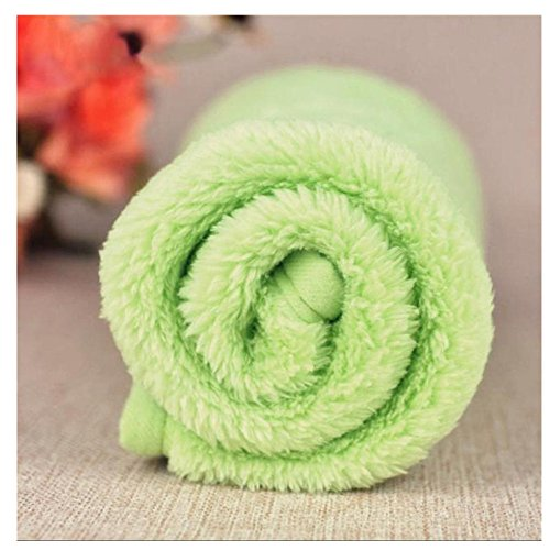 (Pet Blanket, OOEOO Dog Solid Bed Cover Puppy Cat Mat Soft Fleece Quilt Bed Cushion Pad (Green, 38x58cm))