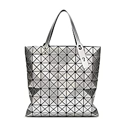 PVC Plaid Geometry Hand Bag Top-Handle
