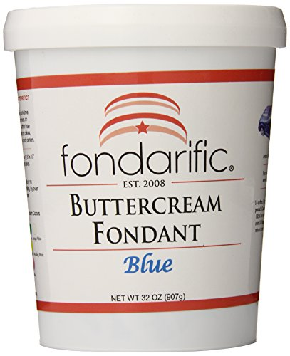 (Fondarific Buttercream Blue Fondant, 2-Pounds )