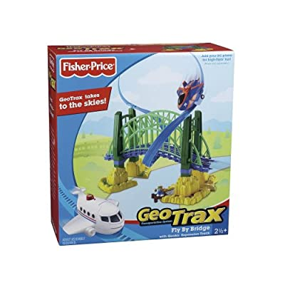 Fisher-Price GeoTrax Rail and Road System Fly-By Bridge with GeoAir Expansion Track: Toys & Games