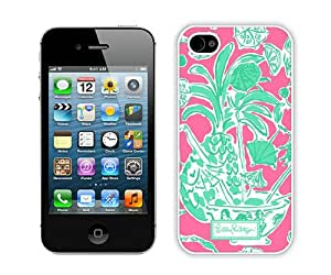 Popular And Durable Custom Designed Case For iPhone 4S With Lilly Pulitzer 23 White Phone Case