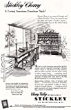 1953 Stickley Cherry: Living American Furniture Style, Stickley Print Ad