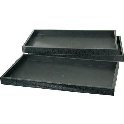 RJ displays-3 negro plástico apilables joyas pantalla bandejas apilables Mostrar pantallas