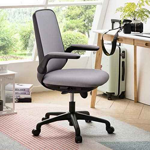 OVIOS Office Chair,Mesh Desk Chair for Dresser and Home Office,Modern,Comfortble,Nice Tash Chair for Computer Desk. (Black-Grey)