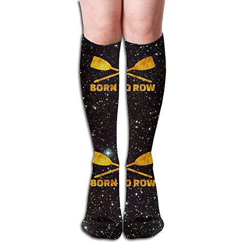 Born To Row Gold Women's Long Knee-high Stockings Athletic Sport Tube - Tube Gold Born
