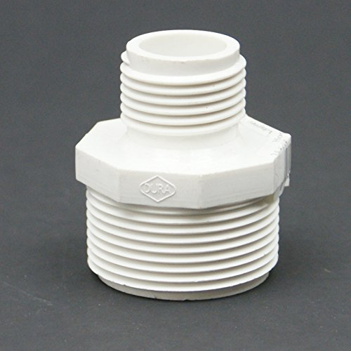 PVC Schedule 40 MPT x MHT Adapter - MPT Size : 1-1/2