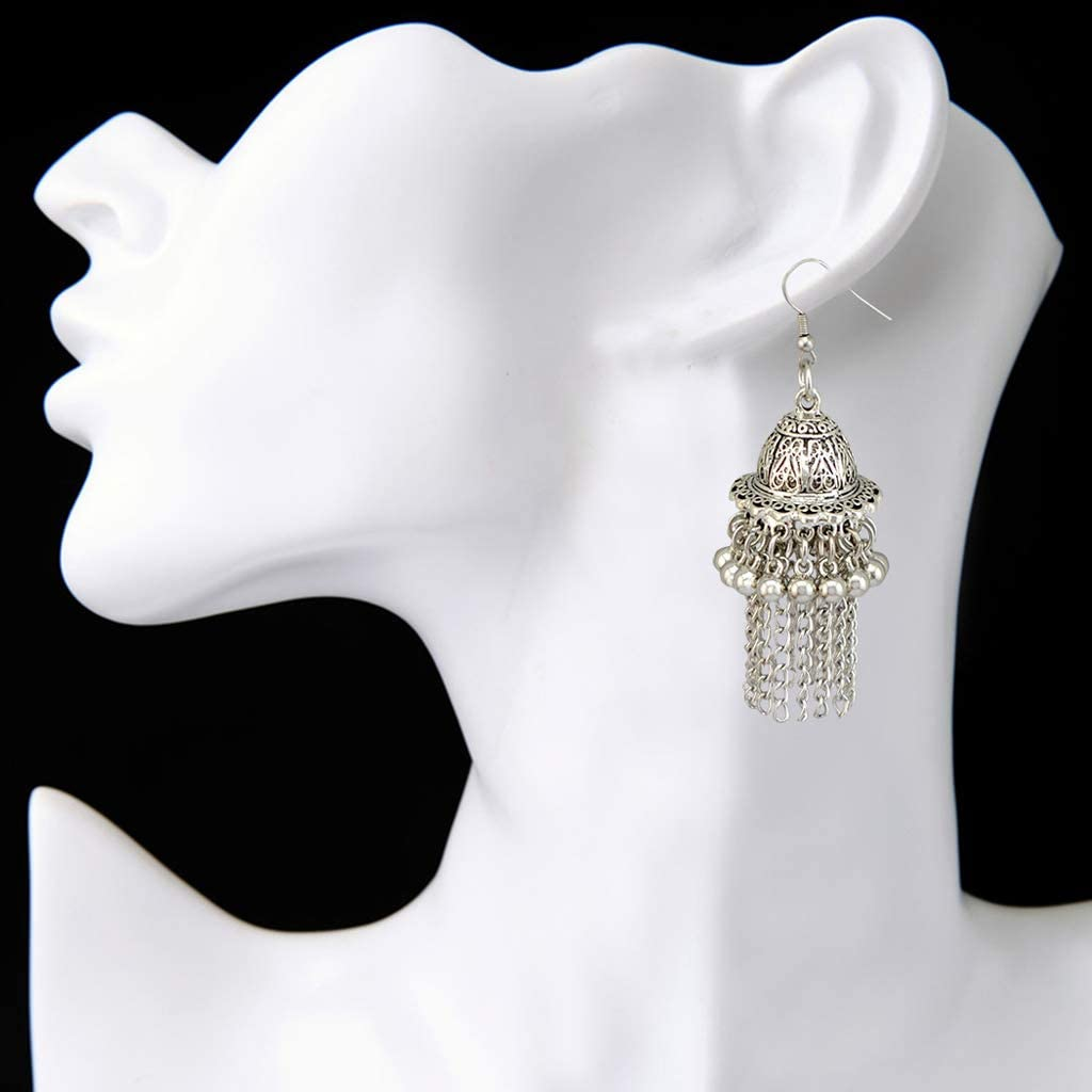 siwetg Jingle Bell Jhumka Indische Einzigartige Ethnische Bollywood Ohrringe Schmuck