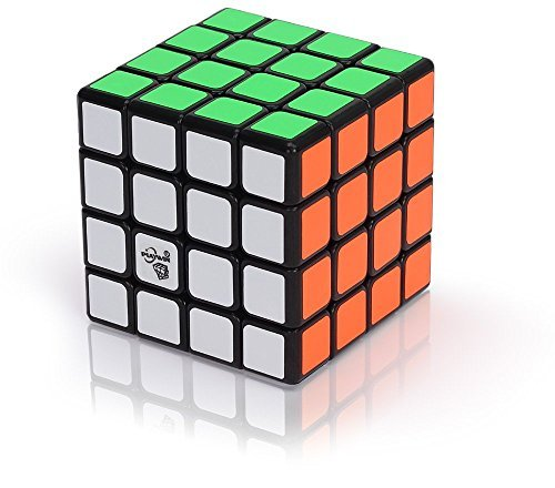 Speed Cube | Magic Speed Cube Puzzle 4x4 | Aloko VT 4x4 New Anti-pop Sticker Speed Cube Puzzle | Ganowo | (Black)