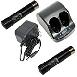 HQRP Battery Charger and Two Batteries for Craftsman 900112710 900.112710 9-11271 911271 387101-01 387101-00 00911271000 900112690 Power Tools + HQRP Coaster