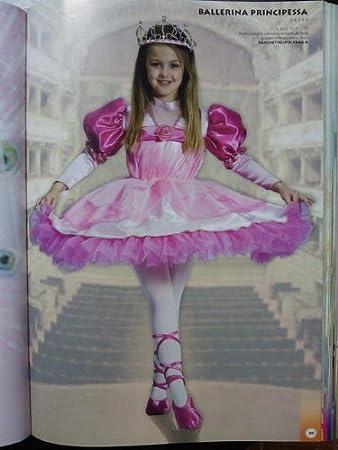 Ballerina Lilla Rosa Ragazze Bambini Costume Carnevale