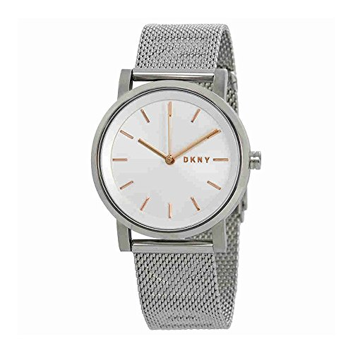 DKNY Women's 'SoHo' Quartz Stainless Steel Casual Watch, Color:Silver-Toned (Model: NY2620)