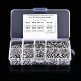 800-Piece M2 Screw Assortment Kit,Acogedor Nickel-Plated Carbon Steel Cross Drive Flat Head Self-Tapping Screws,Woodworking Fastener with Box,4mm-20mm