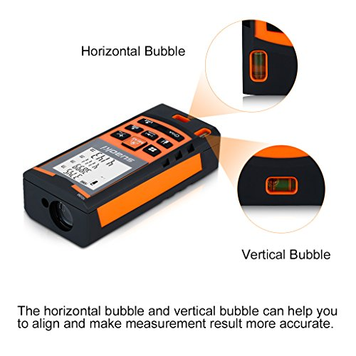 Suaoki S9 330ft Laser Distance Measure, Laser Measure with 2 Bubble Levels,Pythagorean...