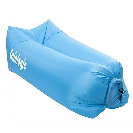 Sainlogic cama de aire inflable resistente al agua, tumbona llevan bolsas de aire portátil para dormir al aire libre, en el interior, sentarse, ...