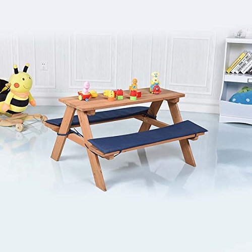 Wooden Beach Table Seat - Bundle with Floor Pads