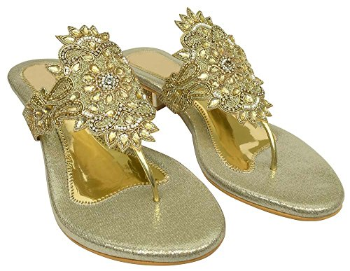 Flops Jutti Party Thong Khussa Style Shoes Bridal Step Sare Flip Flat Beaded N Women HOfW0q