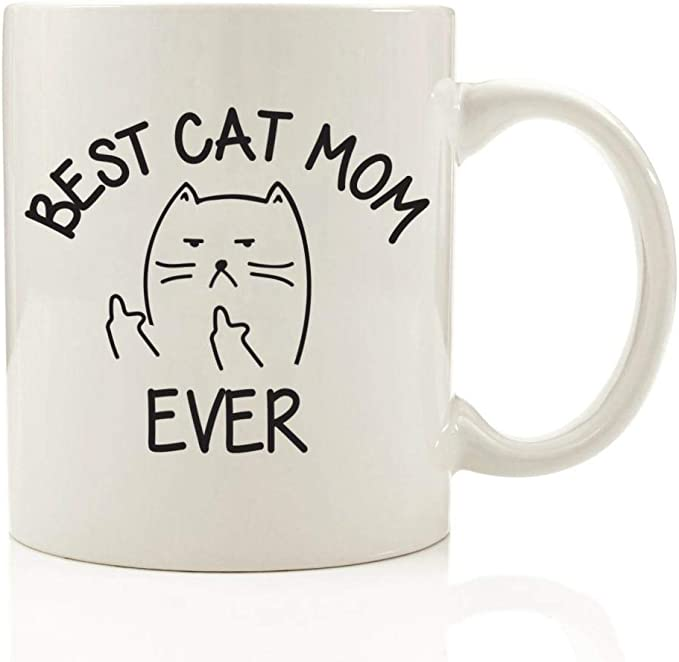 Daenerys primicia de madre de gatos loca gato dama divertida taza de café @ p2: Amazon.es: Hogar