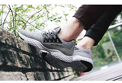 Earsoon Laufschuhe Männer Tennisschuhe - 2018 Winter Frühling neue exklusive Serie J-YD17014 für Jogging Walking Sportschuhe Outdoor-Schuhe, Heavy Duty Grau