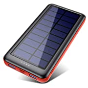 Solar Charger, 26800mAh Solar Battery Power Bank Portable Charger with Smart 4 Indicator Leds and 2 Outputs & 2 Inputs…