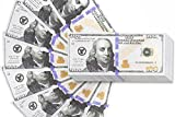 movie guns - 200 Pack Play Bills - Prop Money Fake Money Double Sided 100 Dollar Bills, 2.6 x 6.1 Inches