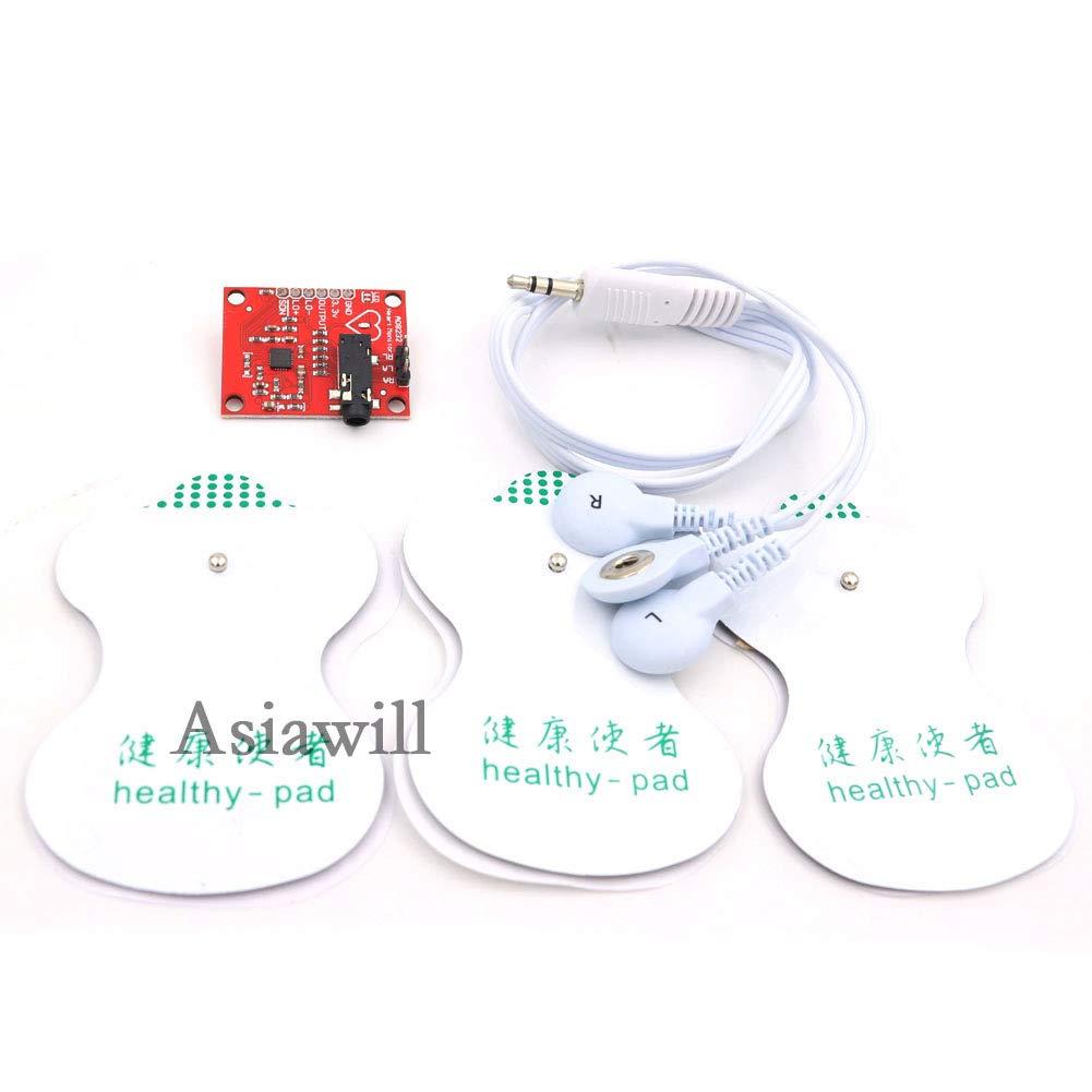 Asiawill AD8232 M/ódulo de sensor de pulso card/íaco para Arduino