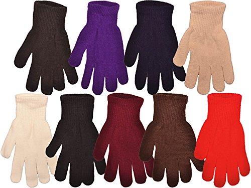 Childrens Magic Gloves (FoMann Kids Magic Gloves Children Knit Gloves Wholesale 12 Pairs(7 to 16 years) (Rainbow Assorted))