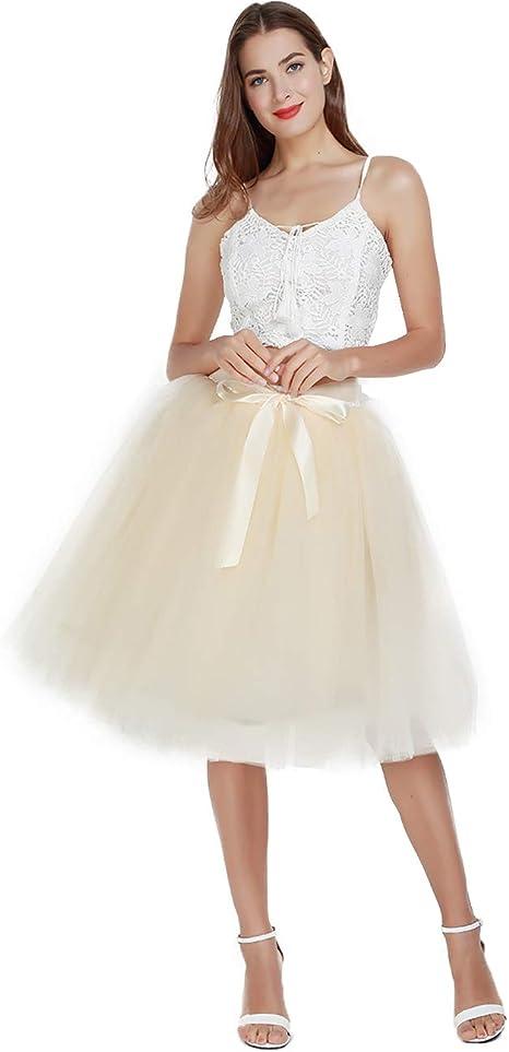 Knee Length Tulle Skirt