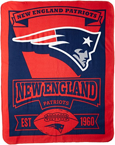 NFL New England Patriots Marque Printed Fleece Throw, 50