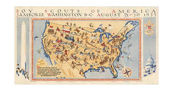 Amazon.com: Historic Map | Boy Scouts of America Jamboree ...