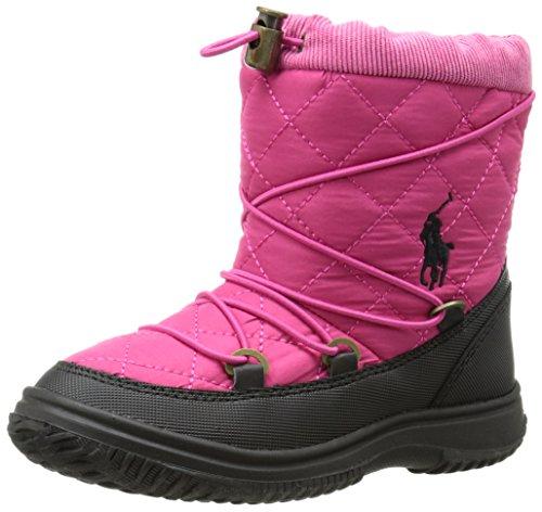 Polo Ralph Lauren Kids Orao Quilted Winter Boot (Toddler/Little Kid),Preppy Pink,6 M US Big Kid