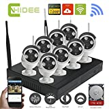 CNHIDEE 8CH 720P Wireless nvr kit P2P onvif 8pcs WIFI IP Camera System Waterproof 1.0MP CCTV Camera Vedio Surveillance System with 1 TB HDD For Sale