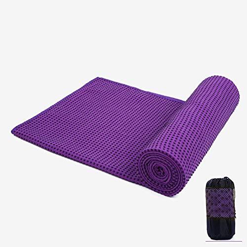 Non Slip Yoga Towel, Microfiber Sweat Absorbent & Quick Dry Mat Towel, Absorb Sweat - Ideal for Hot Yoga, Pilates, 18363cm