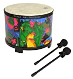Remo Kids Percussion Floor Tom Drum - Fabric Rain Forest, 10\