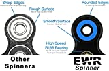 EWR- Original 360 Spinner Fidget Toy R188 Bearing Quiet & Fast 1-4 Min Spins, Premium EDC Helps Focus, Stress, Anxiety, ADHD, Boredom. Extremely Durable