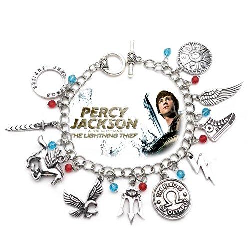 Blue Heron Percy Jackson 10 Logo Charms Toggle Clasp Bracelet w/Gift (Theme Toggle Bracelet)