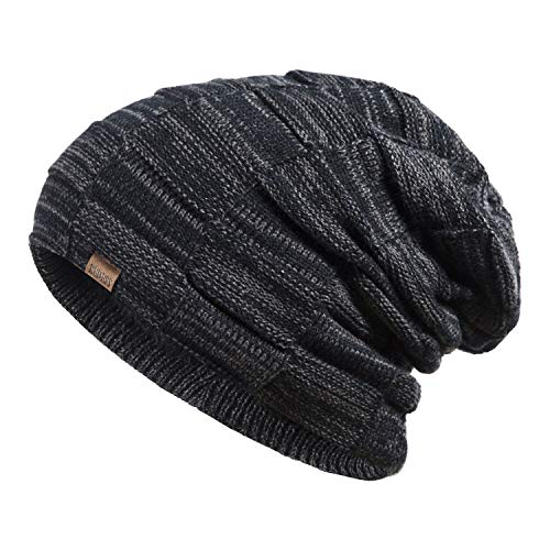 REDESS Slouchy Long Oversized Beanie Hat for Women and Men, Variy Styles and Colors Fleece Lined Winter Warm Knit Cap - Long Beanie Cap