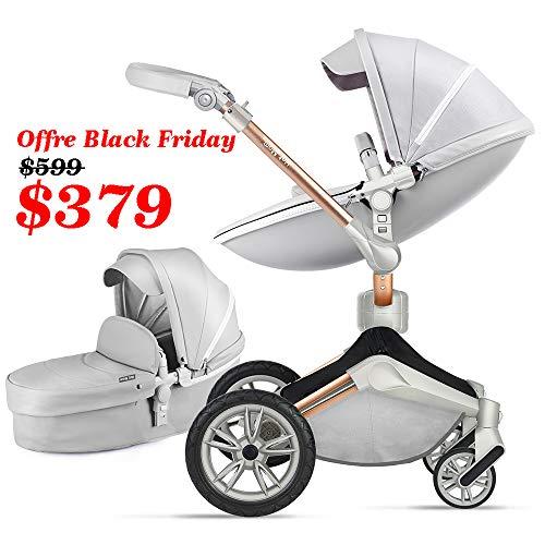 Baby Stroller 360 Rotation Function,Hot Mom Baby Carriage Pushchair Pram 2020,Grey