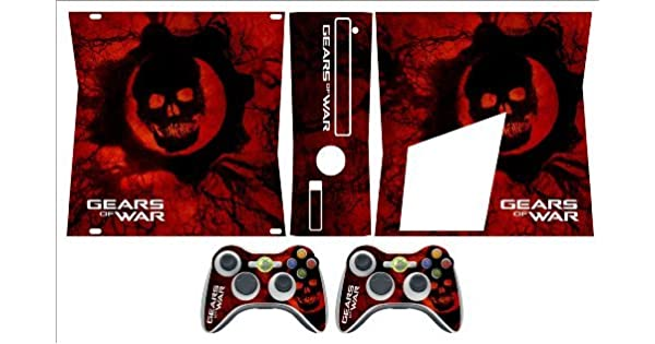 Xbox 360 Slim Skin Gears of War (RED) by Sign Smith: Amazon.es: Videojuegos