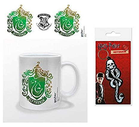Set: Harry Potter, Slytherin Stencil Crest Taza Foto (9x8 cm ...