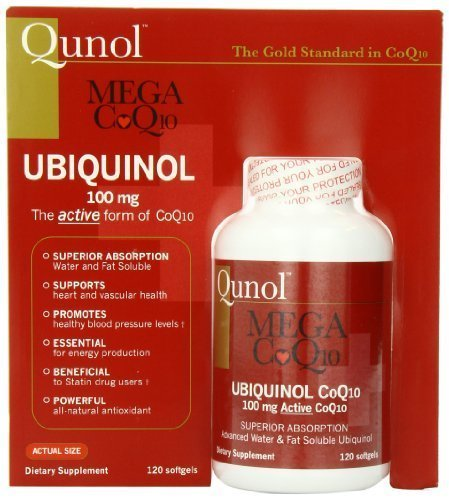 Qunol Mega CoQ10 Softgels, 100 Mg, 120 Count (Pack of 3) by Qunol by QUNOL