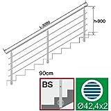 edelstahl handlauf gel nder f r treppen br stung balkon. Black Bedroom Furniture Sets. Home Design Ideas