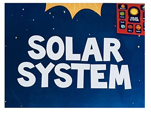 Solar System Learning Materials Back To School Teaching Classroom Decor Bulletin White Board Kit Educational Set Includes Individual Planets Theme Poster, Large Die Paper Cut Outs Science Bundle by BEB