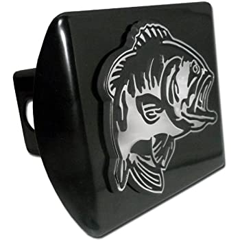 Bass fish trailer hitch cover fits 2 inch auto for Fish hitch cover