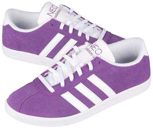 Adidas Vlneo Woman Purple Court Shoes morado