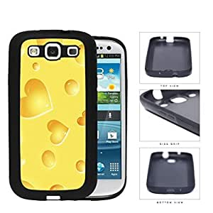 Yellow Cheese Heart Shapes Rubber Silicone TPU Cell Phone Case Samsung Galaxy S3 SIII I9300