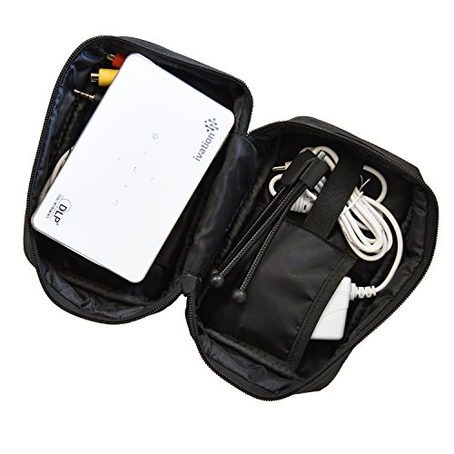 Ivation portable projector travel storage carrying case for Pocket projector case